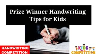 Handwriting Competition in school   Prize winner handwriting competition for kids and improve tips