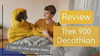 Review Ultraleichtschlafsack Trek 900 Decathlon + 5 Tipps für eine warme Winternacht
