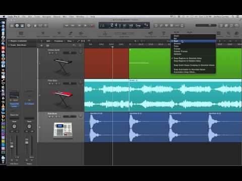 Logic Pro X – Video Tutorial 13 – Drag Modes (Overlap, No Overlap, X-Fade, Shuffle) and Nudge Values