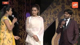 Actress Trisha Extreme Fun with Jabardasth Sudigali Sudheer  and Anchor Suma Kanakala at ATC