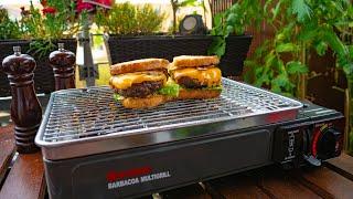 BUTSIR Tragbarer Grill im Praxistest  / Camping Gasgrill  für Kartuschen