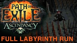Path Of Exile Ascendancy Preview   Labyrinth Full Run