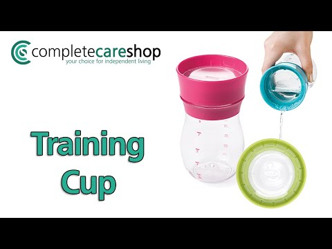 OXO Tot Soft Spout Sippy Cup Set with Training Lid Demonstration