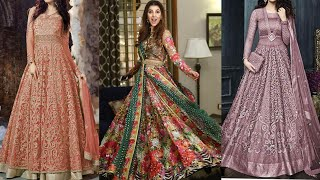 Pakistani And Indian Designer Lehnga & Maxi Dresses 2019/Lehnga Maxi Gown Designs