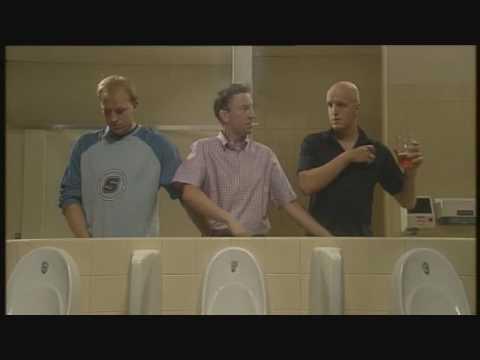 British Humor Urinal Skit