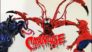 CARNAGE vs VENOM y SPIDERMAN Stop Motion | Amazing Yamaguchi Carnage Stop Motion Review Action Video