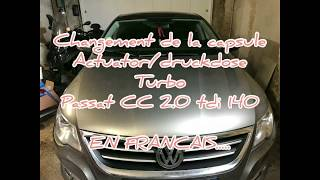 Tutoriel remplacement capsule (actuator-druckdose-boost) turbo - Volkswagen VW PASSAT 2.0 TDI 140