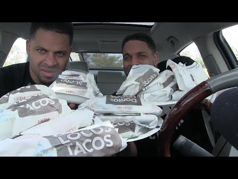 Taco Bell Fiery Doritos Tacos Eating Challenge @Hodgetwins