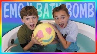 WORLD'S LARGEST EMOJI BATH BOMB CHALLENGE! | We Are The Davises