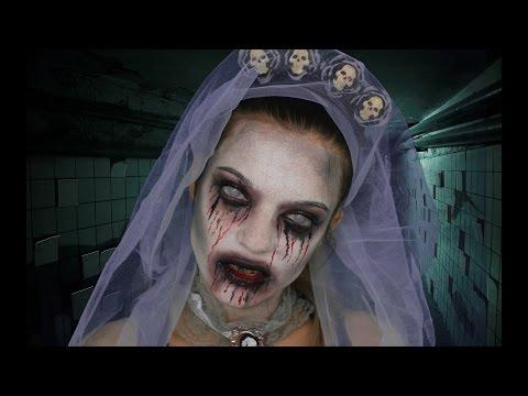 Maquillaje barato de Halloween: Novia fantasma (Ghost Bride)  | Fácil y rápido