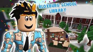 decorating the library in my BLOXBURG SCHOOL... there was a tiny update too