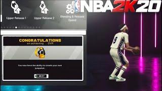 FASTEST WAY TO UNLOCK CUSTOM JUMPSHOT CREATOR IN NBA 2K20!! BEST CUSTOM JUMPSHOTS IN NBA 2K20!