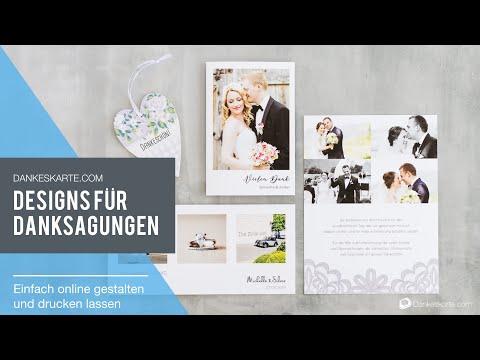 Dankeskarten für die Hochzeit von Dankeskarte.com