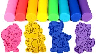 Paw Patrol Play Doh Molds Learn Colors with Skye Rubble Chase Everest Ryder Toys Dinosaur Surprise