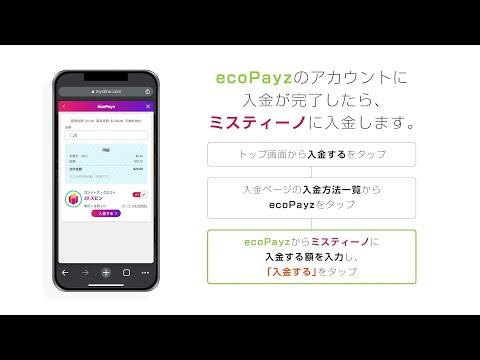 エコペイズを使った入金方法の解説動画!