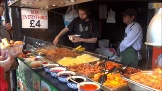 preview picture of video 'London Good Street Food. Thai Restaurants in Camden Market, Camden Town'