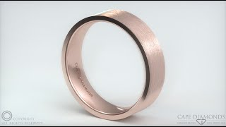 517-Rose Gold, Flat, Comfort-Fit, Brushed, 6mm Wide Mens Wedding Bands Cape Town South Africa.