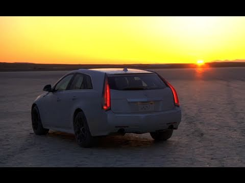 Top Speed in a Cadillac CTS-V Wagon & Corvette