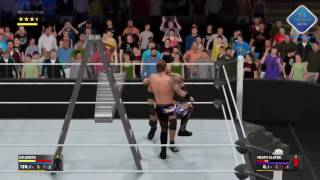 WWE 2K17 - Tutorial Ladder Bridge and OMG Ladder Powerbomb