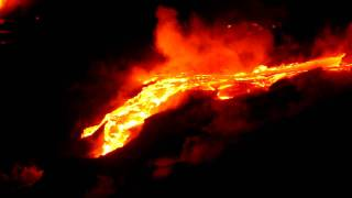 preview picture of video 'HD Video of Kilauea Volcano Lava Flowing near Kalapana on the Big Island of Hawaii'