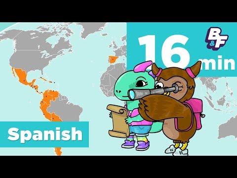 Basho's Spanish Food & Travel Compilation   BASHO & FRIENDS Learning Songs