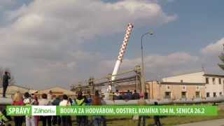 preview picture of video 'Odstrel komína  - Senica (26.2. 2014)'