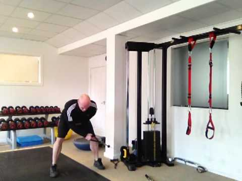 Bent Over Single Arm Reverse Fly - Cable