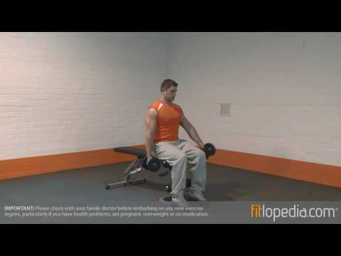 Alternate Low Seated Dumbbell Front Raise
