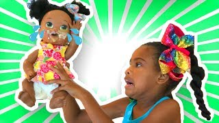 The Day Elli became a  Doll!  Doli Play Kitchen Food