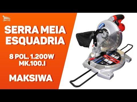 Serra Meia Esquadria 8 Pol. 1.200W  - Video