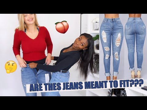 TRYING ON JEANS FROM THE INTERNET…..HMMM DO THEY FIT ON DIFFERENT BODY TYPES?