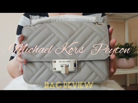 MY FIRST MICHAEL KORS BAG IN 2020 | PEYTON IN PEARL GREY BAG REVIEW