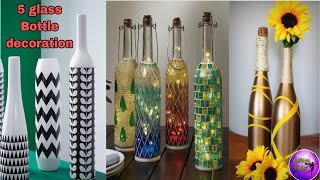 Home Decor Ideas | 5 Bottle Decoration Ideas | Bottle Crafts | Room Ideas | Fashion Pixies