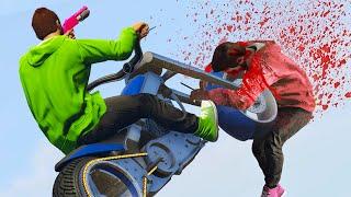 SMASHING SNIPERS AT 200MPH! (GTA 5 Funny Moments)