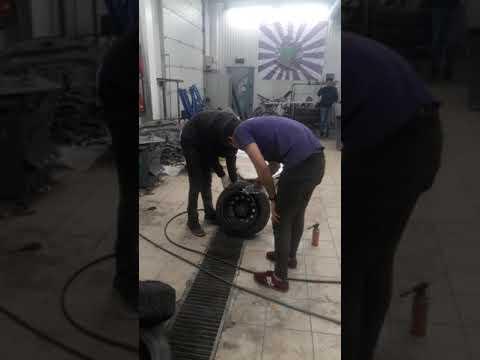 Как посадить колесо с большим выносом