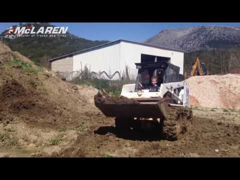 McLaren Оver-Тhe-Тire tracks on Bobcat 743 Skid Steer Loader - Part 2