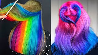 Rainbow Hair Color. Best Hair Colorful Transformation Compilation 2020