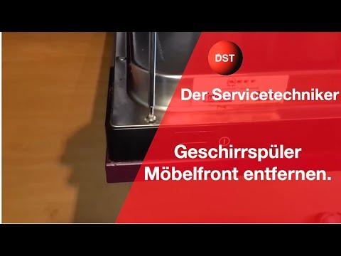 Bosch Siemens Geschirrspüler Möbelfront abbauen