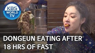 Dongeun eating after 18 hrs of fast [Boss in the Mirror/ENG/2020.03.15]