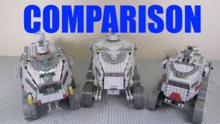 "LEGO Star Wars ""Clone Turbo Tank"" Comparison! (7261 Vs 8098 Vs 75151 / 2005 Vs 2010 Vs 2016)"
