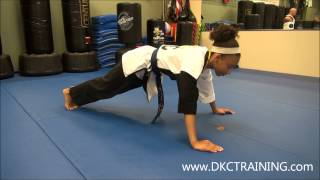 preview picture of video 'Childrens Exercises for Martial Arts Training | Standard Pushups | Mount Laurel NJ'