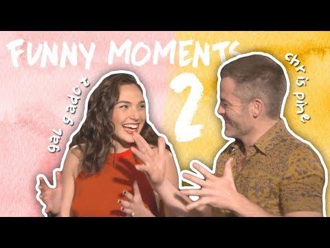 Gal Gadot & Chris Pine's Friendship! CUTE & FUNNY MOMENTS! Part 2