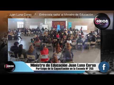 Entrevista al Ministro de Educación Juan Luna Corso.