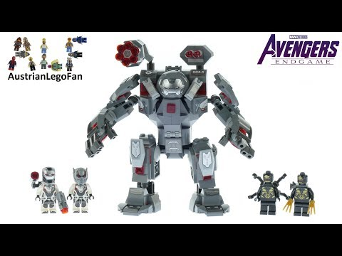 Vidéo LEGO Marvel Super Heroes 76124 : L'armure de War Machine