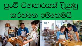 How To devolop Small Business SINHALA-කුඩා වෙලදාමක් දියුණු කරමු