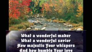 Wonderful Maker Lyrics Chris Tomlin