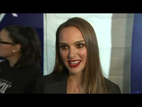 "At the premiere for her new movie ""Vox Lux,"" actress Natalie Portman discusses her character - a pop star named Celeste - and what the film says about society today. (Dec. 6)"