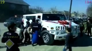 Смотреть онлайн Подборка: Страшные аварии на свадьбах