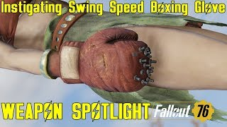 Fallout 76: Weapon Spotlights: Instigating Swing Speed Boxing Glove