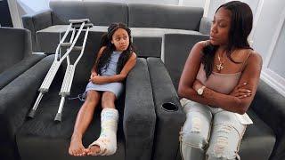 Girl SKIPS SCHOOL Because of BROKEN LEG, Then Gets CAUGHT   FamousTubeFamily